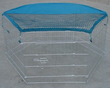 Wire Mesh Dog Fence with Cover