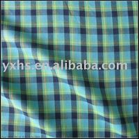 100% Cotton Check Poplin Fabric