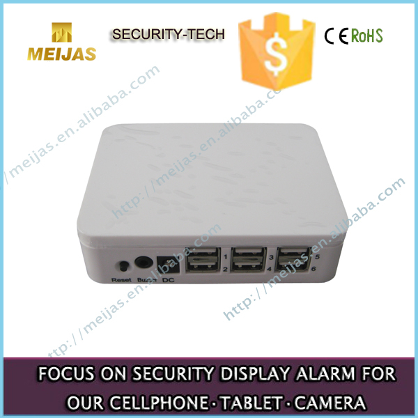 4 Ports Retail shop Mobile security device