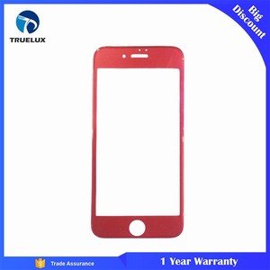 Red 3D Curved Screen Saver For iPhone 7 Tempered Glass Screen Protector