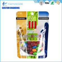 Plastic Stand Up Ziplock Packing Pouch Standup Bag With Window