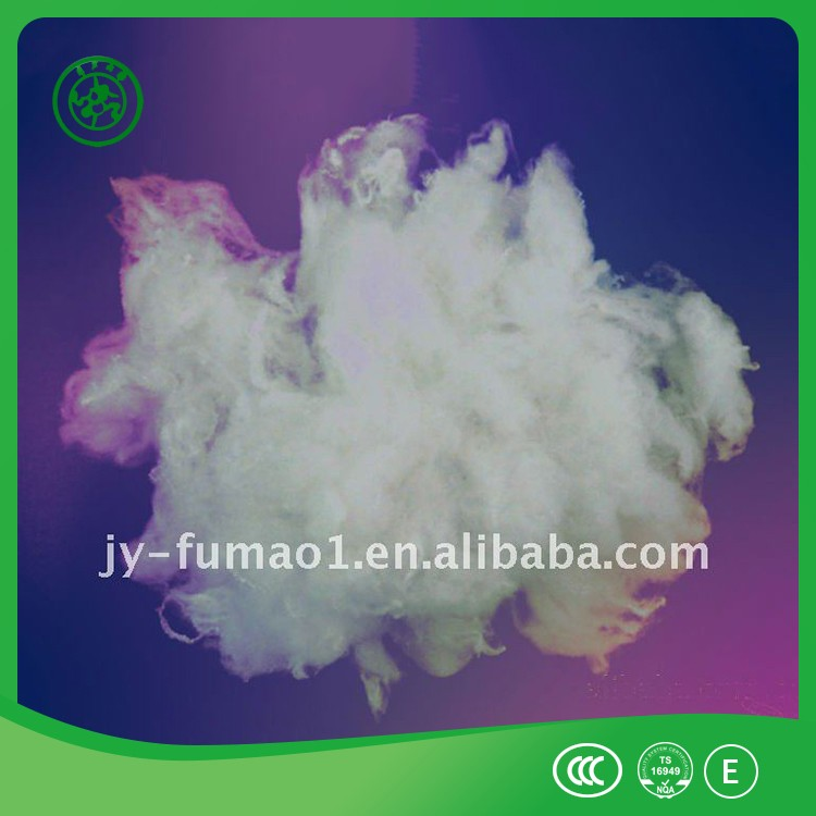 Factory!! fluorescent dope dyed polyester fiber 1.5D
