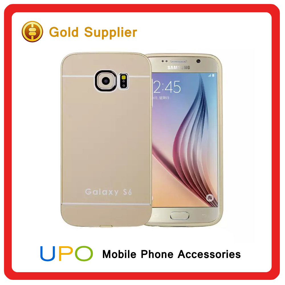 [UPO] Ultra Thin Hard Plastic PC Aluminum Bumper Metal Mirror Phone Cover Case for Samsung Galaxy S6