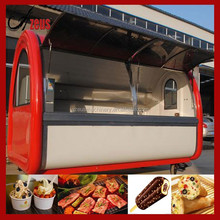 2015 low cost soft ice cream push cart / hand push trailer for sale