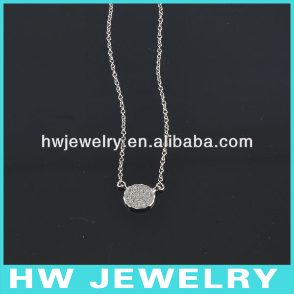 Silver Micro Pave Necklace HWNE90229