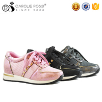 Import export lace up cheap price sports shoes for women sneakers