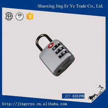silver light style TSA luggage and bag padlock 3 number with keys