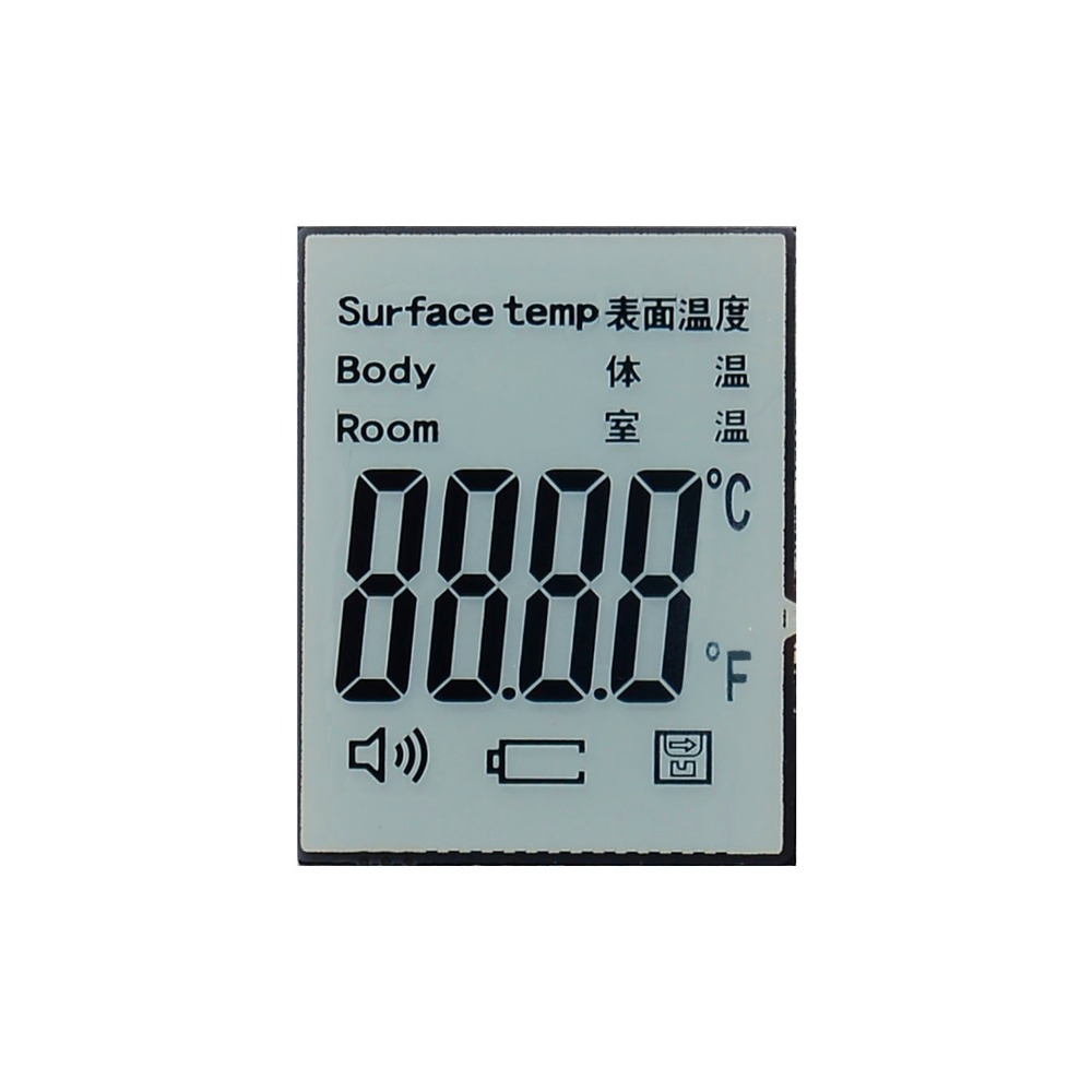 custom lcd display positive HTN LCD 7 segment TN small transparent lcd display screen