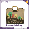 Burlap Jute Bags Grocery Shopping Tote Jute Bag