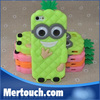 eco-friendly 3D cute Pineapple despicable Me 3d silicone case mobile phone case for Samsung Note 2 note 3 note 4