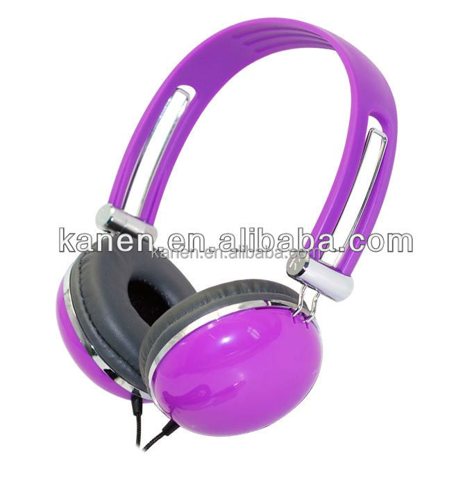 Elegant designed best looking purple pc headphone