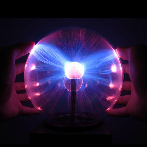 Led magic battery operated static electricity plasma ball light