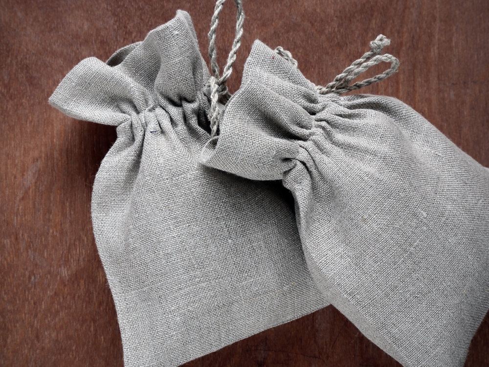 High quality small jewelry linen gift drawstring pouches bags