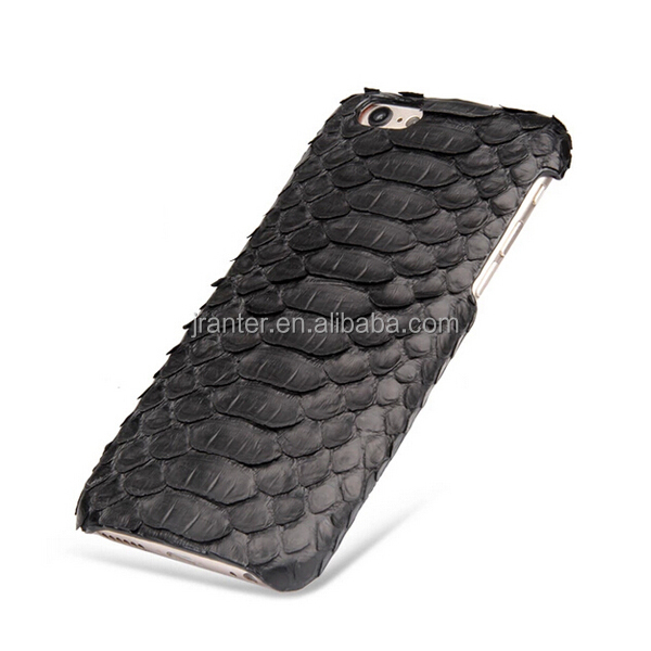 OEM ODM Genuine Leather for Phone Case, Python Snakeskin Leather Case for Phone
