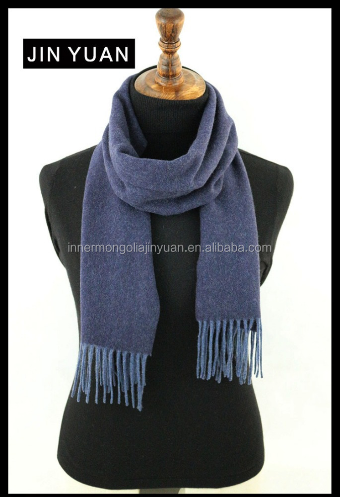 winter solid color real cashmere scarf