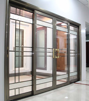 2015 Free Customize Ce Approved New Interior Wooden Glass Sliding Doors Design