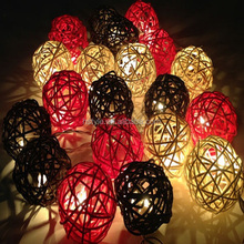 Rattan Ball String Light For Home Decoration Wedding Party Dining Table Living Room Restauraunt HNL028