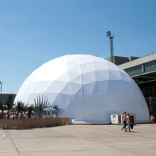 New promotion white pvc geodesic dome tent outdoor with steel frame for sale