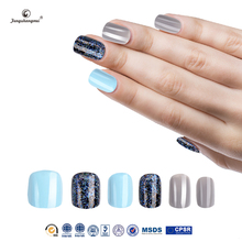 Fengshangmei plastic artificial nails high quality LightGray fake nails girls full cover long nails