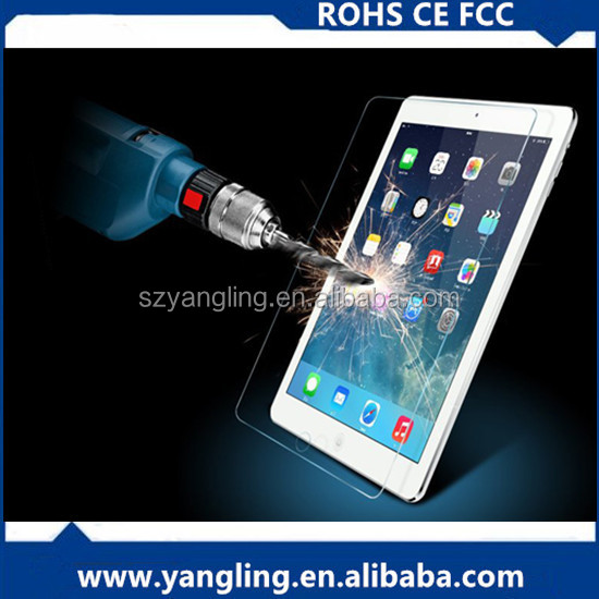 anti-glare highly clear tempered glass screen protector for ipad 2 3 4