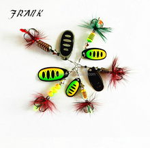Five Sizes Copper Material Spinner Bait Fishing Lure