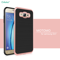Hot Selling Ultra Thin TPU PC Combo Brushed Back Case For Samsung Galaxy on7 g6000