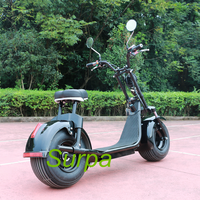 surpa 2000w 1500w 60v 12ah/20ah 18*9.5inch citycoco fat tire scooter electric motorcycle/personal two wheel transportation