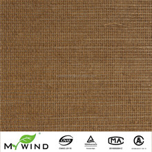 Light Brown Bedroom Decoration Wallcovering Children Rroom Wallpaper Natural Grasscloth Material