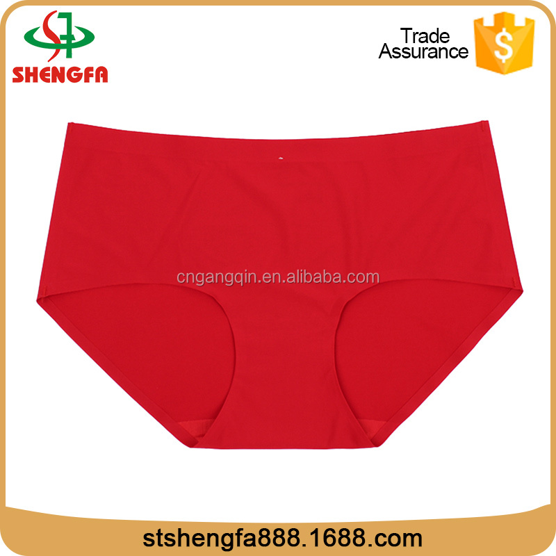 Hot sale seamless nylon breathable red young girl nylon panties