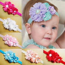 Baby Gifts Kids Hair Accessories Hairband For Infant Baby Girls Rhinestone Flower Headband