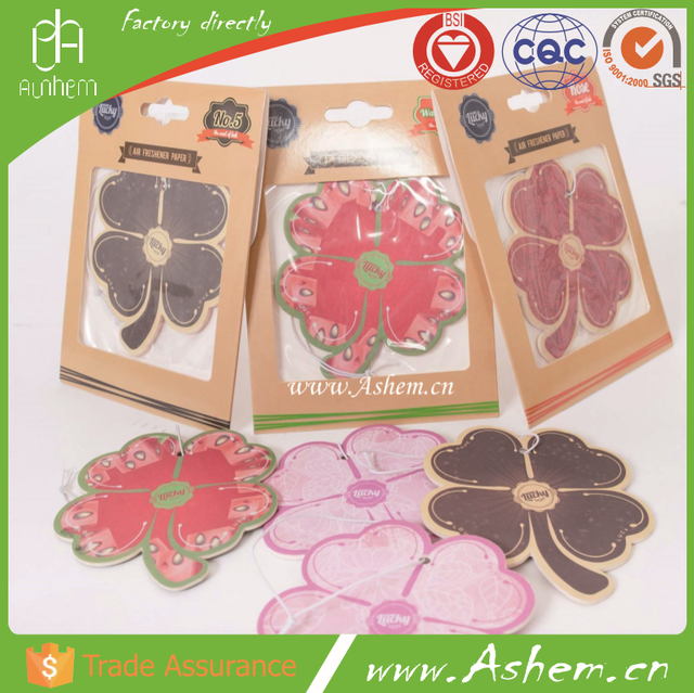 hot sell OEM promote printing car paper fragrance air freshener with customized design, DL025