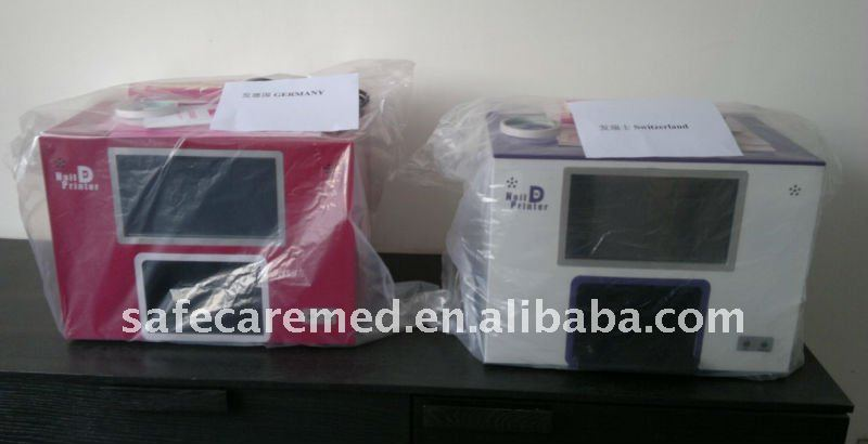 PC Nail Printer ,Built-in PC,Full touch screen,5 nails one time,New Software preload.