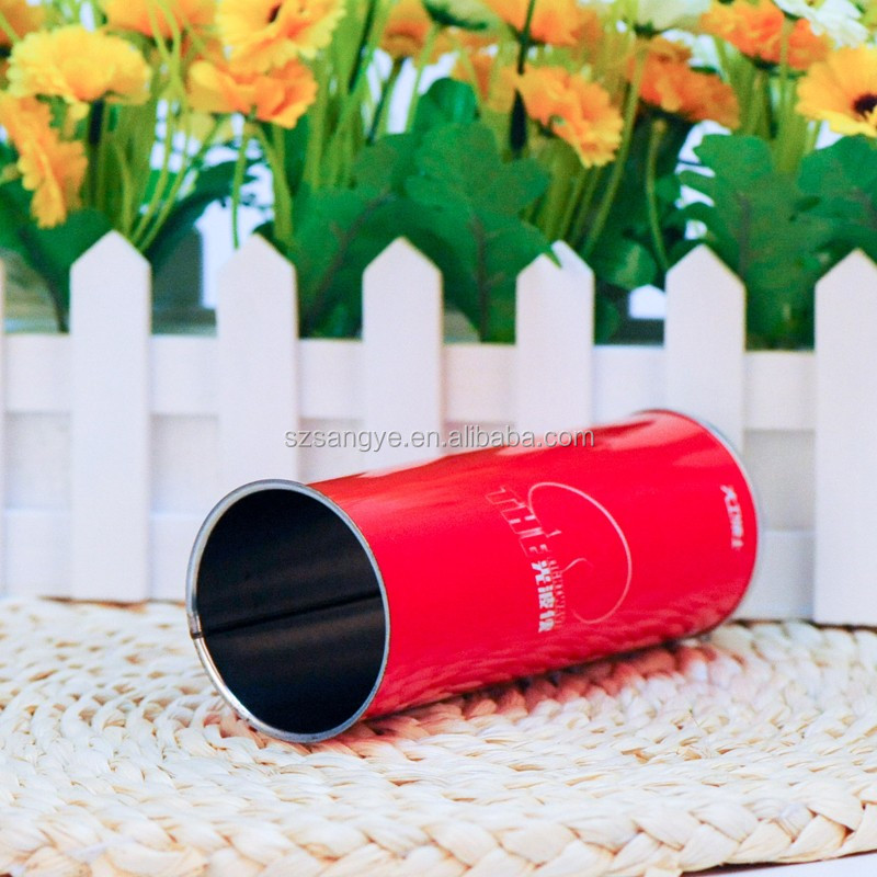 Logo Printing Empty Round Toy Tin Canister