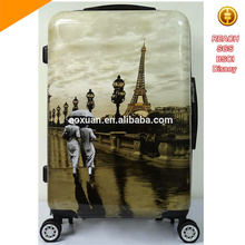 HighQuality new luggage bag Print abs / polycarbonate trolley Luggage