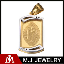 MJ Jewelry pendant for men 316L stainless steel gold pendant design MJ-P01159