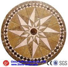 Hotel lobby floor water jet medallion marble pattern designs ,marble medallion tile
