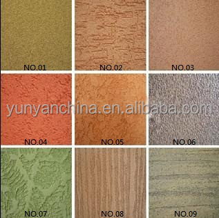 inorganic colorful stucco plaster flexible power