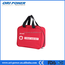 CE FDA approved new promotion custom portable red first aid kit bag
