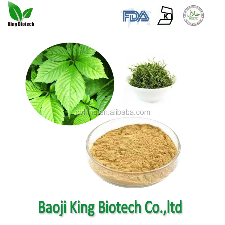 Factory pice of gynostemma pentaphyllum leaf extract 98%