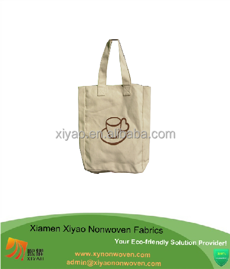 Customized Recycled Promotional Grocery Tote Beige cotton bag with logo