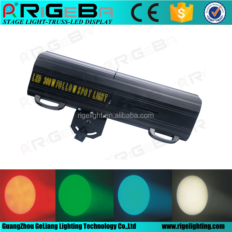 Customizable Gobo 300w led follow spot light five color+white