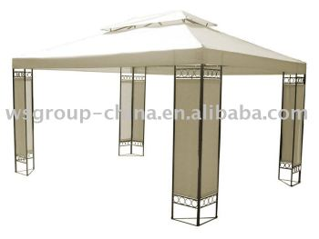 metal gazebo with double roof/garden gazebo steel 10'x13' party tent
