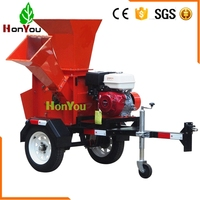 Multifunctional 2pcs cutter 13hp wood pallet crusher for grass with petrol engine