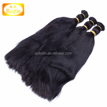 wholesale price China expor raw hair bulk 100% human hair bulk