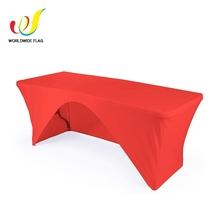 Fuzhou Polyester Washable Advertise Clear Red Heat Proof Quick Cover Table Cover elastic print