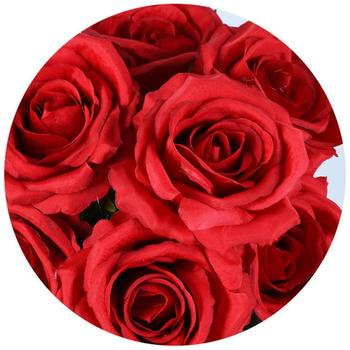 Factory Direct 7 Heads  Artificial Rose Flower For Wedding Decoration