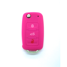 VW skoda cheap silicone rubber car key covers remote silicone key case