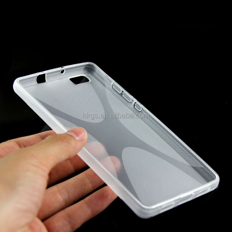 Phone Case For Huawei Ascend P8 Lite / P8 Mini TPU X Line Design Cover