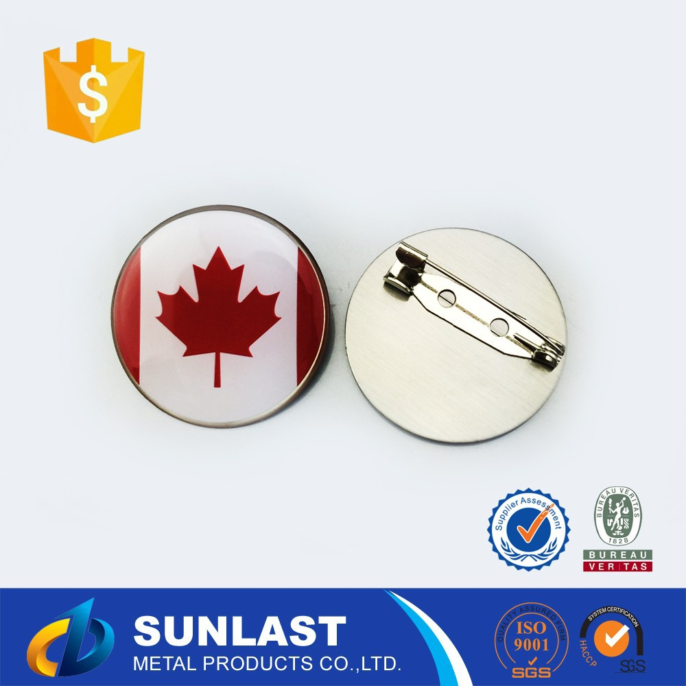 5% DISCOUNT SUNLAST Canada Flag maple/flower round/heart lapel pin XOEM1601