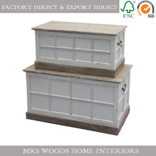 shabby chic white wood storage box wooden blanket box